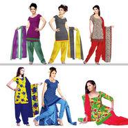 Set of 6 Printed Dress Material