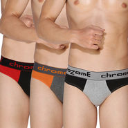 Pack of 3 Chromozome Regular Fit Briefs For Men_10045 - Multicolor
