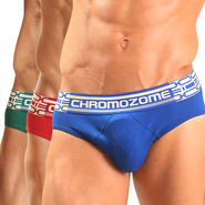 Pack of 3 Chromozome Regular Fit Briefs For Men_10084 - Multicolor
