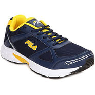 Fila Mesh Navy Yellow Sport Shoes -fl01