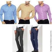 Gwalior Men's Smart Formal Collection - 3 Shirt Piece + 2 Pant Piece