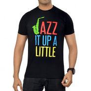 TSG Escape Round Neck Printed Cotton T Shirt For Men_Jazzblk  -  Black