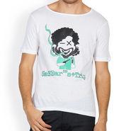 Incynk Half Sleeves Printed Cotton Tshirt For Men_Mht207wht - White