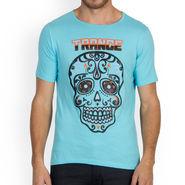Incynk Half Sleeves Printed Cotton Tshirt For Men_Mht217aq - Aqua
