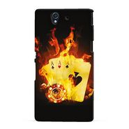 Snooky 19731 Digital Print Hard Back Case Cover For Sony Xperia Z - Black