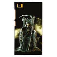 Snooky 20064 Digital Print Hard Back Case Cover For Xiaomi Mi3 - Black