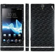Snooky Mobile Skin Sticker For Sony Xperia S 20822 - Black