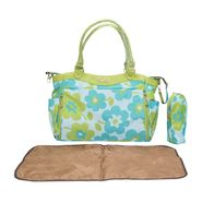 Wonderkids Green Flower Print Fancy Baby Diaper Bag_BK-1245-GFDB