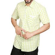 Sparrow Clothings Cotton Checks Shirt_wjc09 - Light Green