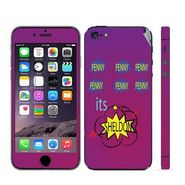 Snooky 28362 Digital Print Mobile Skin Sticker For Apple Iphone 5 - Purple