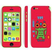 Snooky 28392 Digital Print Mobile Skin Sticker For Apple Iphone 5C - Rose Pink