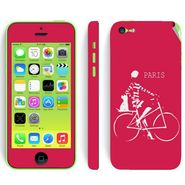 Snooky 28385 Digital Print Mobile Skin Sticker For Apple Iphone 5C - Pink