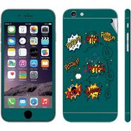 Snooky 28433 Digital Print Mobile Skin Sticker For Apple Iphone 6 Plus - Green