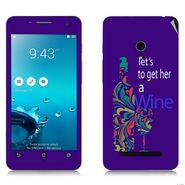 Snooky 27647 Digital Print Mobile Skin Sticker For Asus Zenfone 5 A501CG - Purple