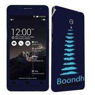Snooky 27689 Digital Print Mobile Skin Sticker For Asus Zenfone 6 A600CG/A601CG - Blue