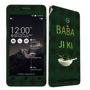 Snooky 27690 Digital Print Mobile Skin Sticker For Asus Zenfone 6 A600CG/A601CG - Green
