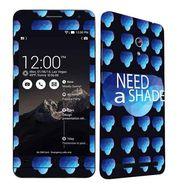 Snooky 27680 Digital Print Mobile Skin Sticker For Asus Zenfone 6 A600CG/A601CG - Blue