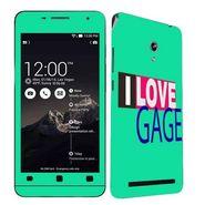 Snooky 27669 Digital Print Mobile Skin Sticker For Asus Zenfone 6 A600CG/A601CG - Green