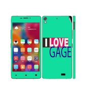 Snooky 27696 Digital Print Mobile Skin Sticker For Gionee Elife 5.1 - Green