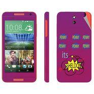 Snooky 28090 Digital Print Mobile Skin Sticker For HTC Desire 610 - Purple