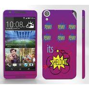 Snooky 28119 Digital Print Mobile Skin Sticker For HTC Desire 820 - Purple