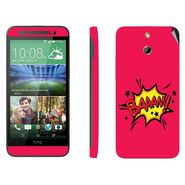 Snooky 28248 Digital Print Mobile Skin Sticker For HTC One E8 - Pink