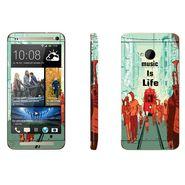 Snooky 28278 Digital Print Mobile Skin Sticker For HTC One M7 - Multi