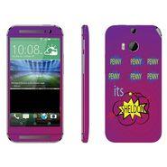 Snooky 28146 Digital Print Mobile Skin Sticker For HTC One M8 - Purple
