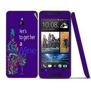 Snooky 28300 Digital Print Mobile Skin Sticker For HTC One mini - Purple
