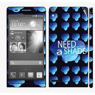 Snooky 28333 Digital Print Mobile Skin Sticker For Huawei Ascend P6 - Blue
