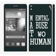 Snooky 28320 Digital Print Mobile Skin Sticker For Huawei Ascend P6 - Multi