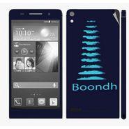 Snooky 28342 Digital Print Mobile Skin Sticker For Huawei Ascend P6 - Blue