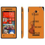 Snooky 28178 Digital Print Mobile Skin Sticker For HTC 8X C620E - Orange