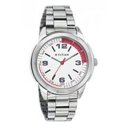 Titan Analog Round Dial Watch_1585sm01 - White