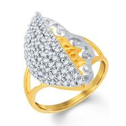 Sukkhi Modern Gold and Rhodium Plated Cubic Zircon Ring _ 8025RCZC1180