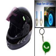 Combo of Bike Helmet + wheel light-CD 25615-1
