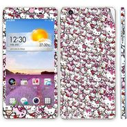 Snooky 38799 Digital Print Mobile Skin Sticker For Oppo R1 - Pink