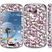 Snooky 38801 Digital Print Mobile Skin Sticker For Samsung Galaxy S Duos S7562 - Pink