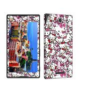 Snooky 38821 Digital Print Mobile Skin Sticker For Sony Xperia C - Pink