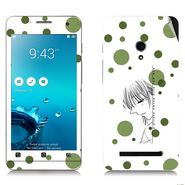 Snooky 38841 Digital Print Mobile Skin Sticker For Asus Zenfone 5 - White