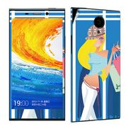 Snooky 38903 Digital Print Mobile Skin Sticker For Gionee Elife E7 - Blue