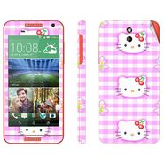 Snooky 38924 Digital Print Mobile Skin Sticker For HTC Desire 610 - Pink