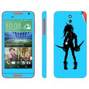 Snooky 38926 Digital Print Mobile Skin Sticker For HTC Desire 610 - Blue
