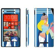 Snooky 38963 Digital Print Mobile Skin Sticker For HTC 8X - Blue