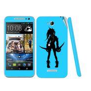 Snooky 38974 Digital Print Mobile Skin Sticker For HTC Desire 616 - Blue