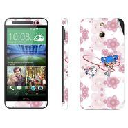 Snooky 39004 Digital Print Mobile Skin Sticker For HTC One E8 - White