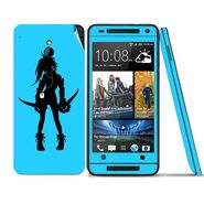 Snooky 39022 Digital Print Mobile Skin Sticker For HTC One mini - Blue