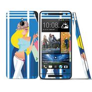 Snooky 39023 Digital Print Mobile Skin Sticker For HTC One mini - Blue