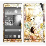 Snooky 39029 Digital Print Mobile Skin Sticker For Huawei Ascend P6 - White