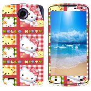 Snooky 39114 Digital Print Mobile Skin Sticker For Lenovo S920 - Pink